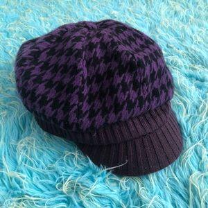 D&Y   Purple & Black Checkered Hat